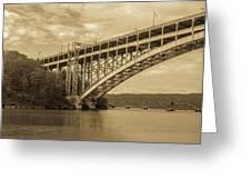 Bridge From The Train Greeting Card