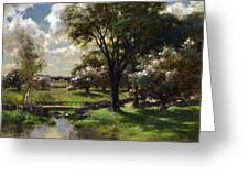 Bridge In Late Spring Greeting Card