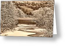 Bridge In Sepia Greeting Card