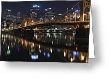 Bridge In The Heart Of Pittsburgh Greeting Card