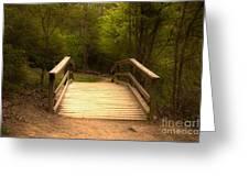 Bridge In The Woods Greeting Card