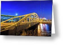 Bridge Meridian Sault Ste. Marie, Michigan -6792 Greeting Card