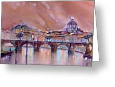 Bridge Of Angels - Rome - Italy Greeting Card