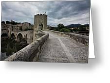 Bridge Of Besalu, Girona Provence, Catalonia, Spain-2 Greeting Card