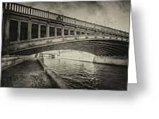 Bridge Of L'archeveche Greeting Card