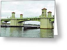 Bridge Of Lions From The Water Greeting Card