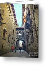 Bridge Of Sighs - Barcelona Greeting Card