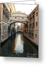 Bridge Of Sighs In Venice In Morning Light Greeting Card