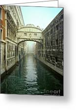 Bridge Of Sighs In Venice Greeting Card