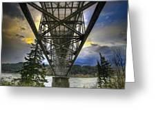 Bridge Of The Gods Greeting Card