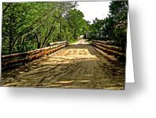 Bridge On Mill Rd.  Greeting Card