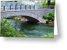 Bridge On The Niagara River Greeting Card