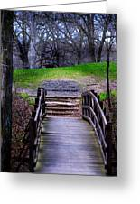 Bridge On The Trail Greeting Card