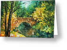 Bridge Over Anger Greeting Card