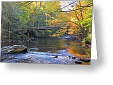 Bridge Over Big Cataloochoo Creek Greeting Card