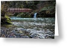 Bridge Over Hackleman Creek Greeting Card
