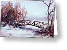 Snowy Span Greeting Card