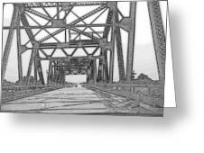 Bridge Over Mississippi Greeting Card