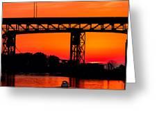 Bridge Over Sunset Greeting Card
