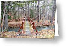 Bridge Over The Brook Greeting Card