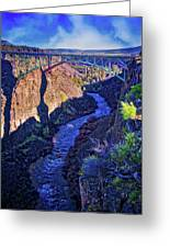 Bridge Over The Crooked River Gorge Greeting Card