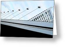 Bridge Over The Danube Greeting Card