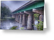 Bridge Over The Delaware River Greeting Card