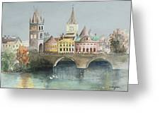 Bridge Over The Lake Greeting Card