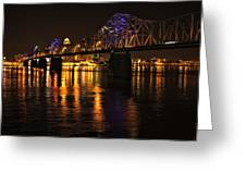 Bridge Over The Ohio Greeting Card