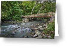 Bridge Over The Pike River Greeting Card