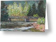 Bridge Over The Poudre Greeting Card