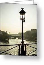 Bridge Over The Seine. Paris. France. Europe. Greeting Card