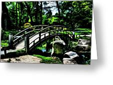 Bridge Over The Stream Greeting Card