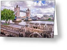 Bridge Over The Thames Greeting Card