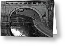 Bridge Over The Tiber Greeting Card