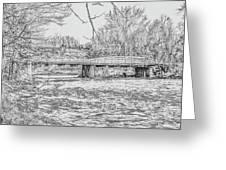 Bridge Over The Vermilion Greeting Card