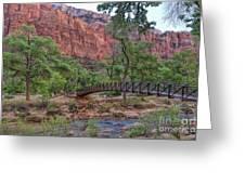 Bridge Over The Virgin River Greeting Card