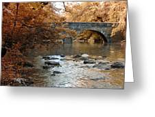 Bridge Over The Wissahickon At Valley Green Greeting Card