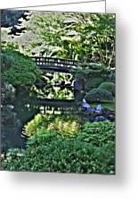 Bridge Over Tranquil Waters Greeting Card