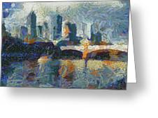 Bridge Over Yarra River In Melbourne Greeting Card