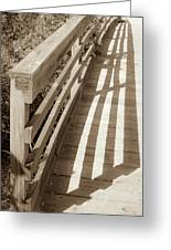 Bridge Railing Greeting Card