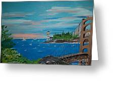 Bridge Scene Greeting Card