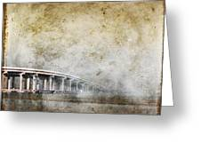 Bridge Over River Greeting Card