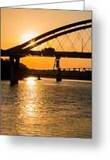 Bridge Sunrise 1 Greeting Card