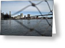 Bridge Through The Fence Greeting Card