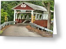 Bridge Through The Somerset Forest Greeting Card