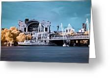 Bridge To Charing Cross Greeting Card by Helga Novelli