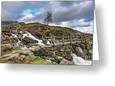 Bridge To Idwal Lake Greeting Card
