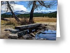 Bridge To Long's Peak Greeting Card