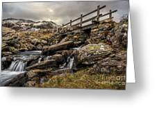 Bridge To Moutains Greeting Card